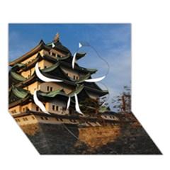 Nagoya Castle Clover 3d Greeting Card (7x5)