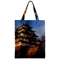 Nagoya Castle Zipper Classic Tote Bags