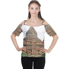 Mingalazedi Women s Cutout Shoulder Tee