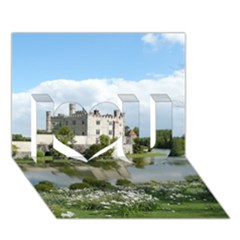 LEEDS CASTLE I Love You 3D Greeting Card (7x5)