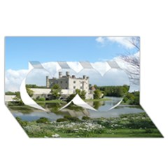 LEEDS CASTLE Twin Hearts 3D Greeting Card (8x4)