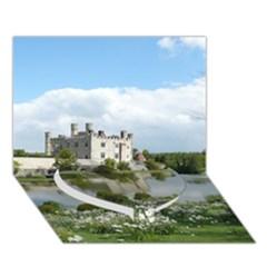 Leeds Castle Heart Bottom 3d Greeting Card (7x5)