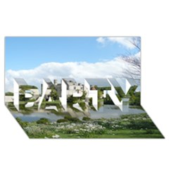 Leeds Castle Party 3d Greeting Card (8x4)