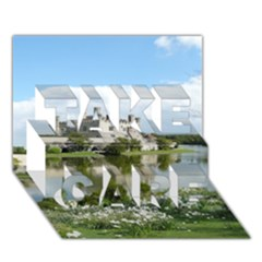 Leeds Castle Take Care 3d Greeting Card (7x5)
