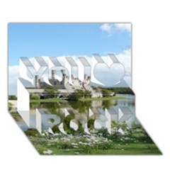 LEEDS CASTLE You Rock 3D Greeting Card (7x5)
