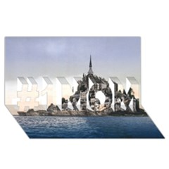 LE MONT ST MICHEL 2 #1 MOM 3D Greeting Cards (8x4)