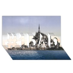 LE MONT ST MICHEL 2 #1 DAD 3D Greeting Card (8x4)