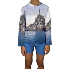 Le Mont St Michel 2 Kid s Long Sleeve Swimwear