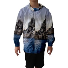 Le Mont St Michel 2 Hooded Wind Breaker (kids)