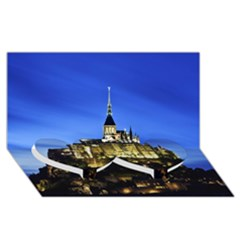 Le Mont St Michel 1 Twin Heart Bottom 3d Greeting Card (8x4)