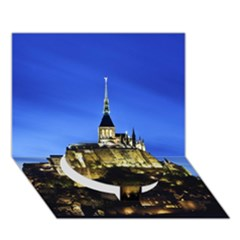 Le Mont St Michel 1 Circle Bottom 3d Greeting Card (7x5)