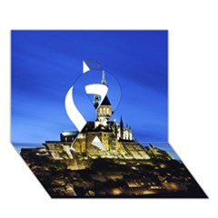 LE MONT ST MICHEL 1 Ribbon 3D Greeting Card (7x5)