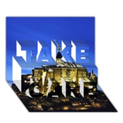 LE MONT ST MICHEL 1 TAKE CARE 3D Greeting Card (7x5)