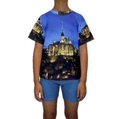 LE MONT ST MICHEL 1 Kid s Short Sleeve Swimwear