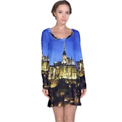 Le Mont St Michel 1 Long Sleeve Nightdresses