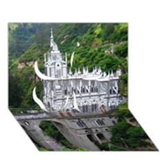 LAS LAJAS SANCTUARY 2 Clover 3D Greeting Card (7x5)