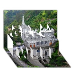 Las Lajas Sanctuary 2 Get Well 3d Greeting Card (7x5)