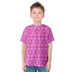 Pretty Pink Flower Pattern Kid s Cotton Tee
