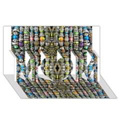 Kaleidoscope Jewelry  Mood Beads MOM 3D Greeting Card (8x4)