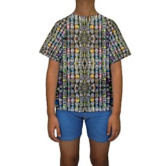 Kaleidoscope Jewelry  Mood Beads Kid s Short Sleeve Swimwear