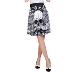 Skull & Books A Line Skirt
