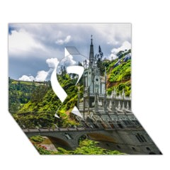 LAS LAJAS SANCTUARY 1 Ribbon 3D Greeting Card (7x5)