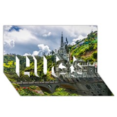LAS LAJAS SANCTUARY 1 HUGS 3D Greeting Card (8x4)