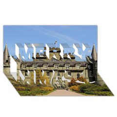 INVERARAY CASTLE Merry Xmas 3D Greeting Card (8x4)