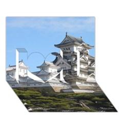 HIMEJI CASTLE I Love You 3D Greeting Card (7x5)