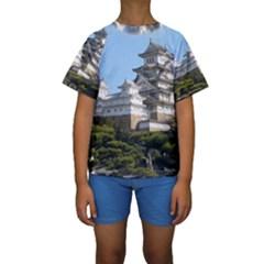 HIMEJI CASTLE Kid s Short Sleeve Swimwear