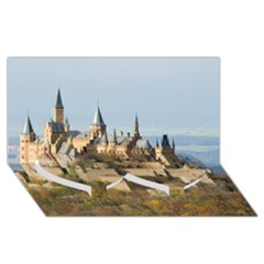 HILLTOP CASTLE Twin Heart Bottom 3D Greeting Card (8x4)