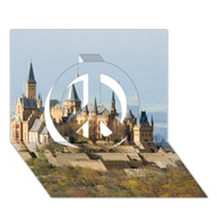 HILLTOP CASTLE Peace Sign 3D Greeting Card (7x5)
