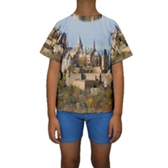 HILLTOP CASTLE Kid s Short Sleeve Swimwear