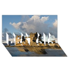Eilean Donan Castle Best Sis 3d Greeting Card (8x4)