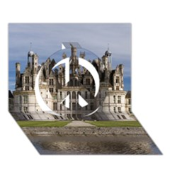 Chambord Castle Peace Sign 3d Greeting Card (7x5)