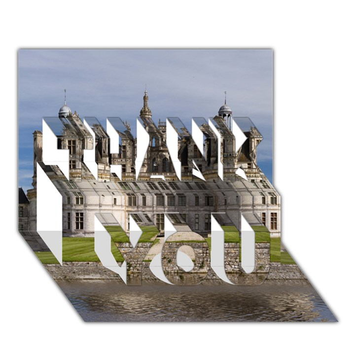 CHAMBORD CASTLE THANK YOU 3D Greeting Card (7x5)