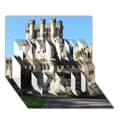 Butron Castle Thank You 3d Greeting Card (7x5)
