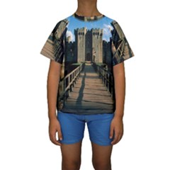 BODIAM CASTLE Kid s Short Sleeve Swimwear