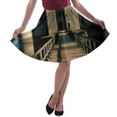 BODIAM CASTLE A-line Skater Skirt