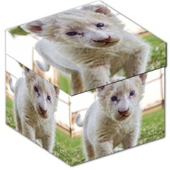 White Lion Cub Storage Stool 12