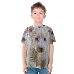 White Lion Cub Kid s Cotton Tee