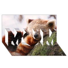Red Panda Mom 3d Greeting Card (8x4)