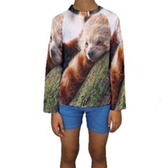 RED PANDA Kid s Long Sleeve Swimwear