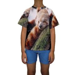RED PANDA Kid s Short Sleeve Swimwear