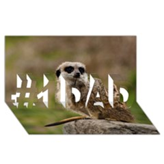 Meerkat #1 Dad 3d Greeting Card (8x4)
