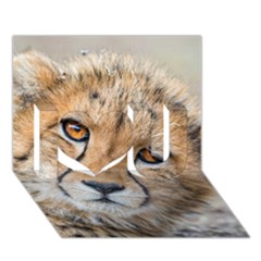 Leopard Laying Down I Love You 3d Greeting Card (7x5)