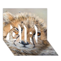 Leopard Laying Down Girl 3d Greeting Card (7x5)