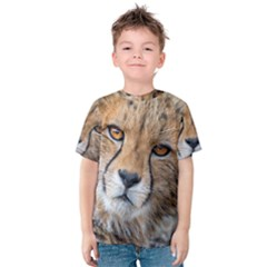 LEOPARD LAYING DOWN Kid s Cotton Tee