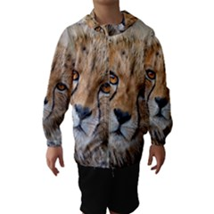 LEOPARD LAYING DOWN Hooded Wind Breaker (Kids)