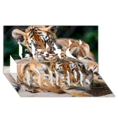 Baby Tigers Best Friends 3d Greeting Card (8x4)